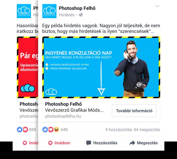 Facebook hirdetéskép